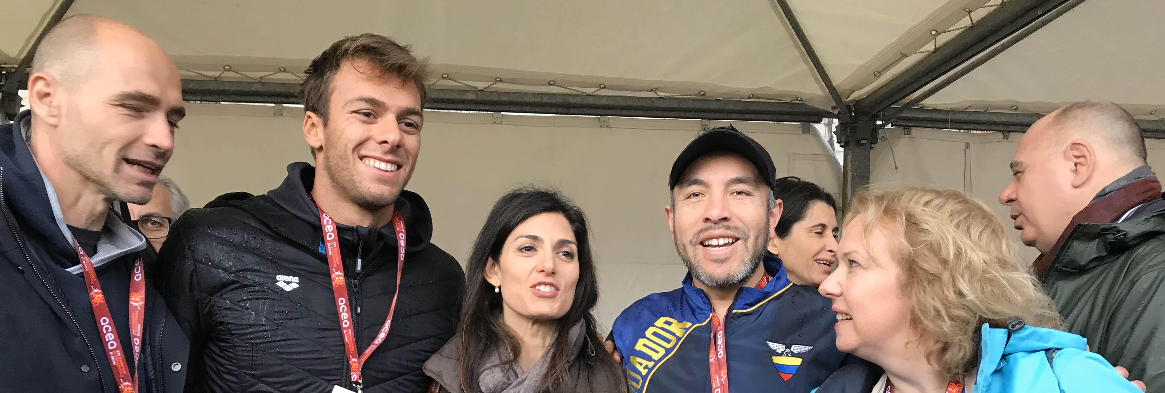 L'Ecuador presente alla Acea Run Rome The Marathon